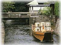 京料理さつき近く高瀬川